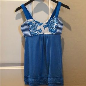 Lululemon tank with built in bra! Size 8!